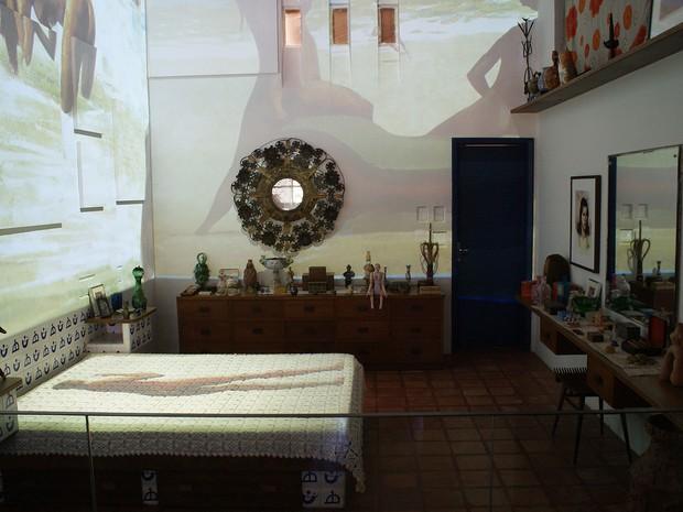 Foto do quarto do casal, na casa do Rio Vermelho (Foto: Egi Santana/ G1 BA)