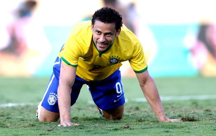 Fred no amistoso Brasil x Panamá (Foto: Reuters)