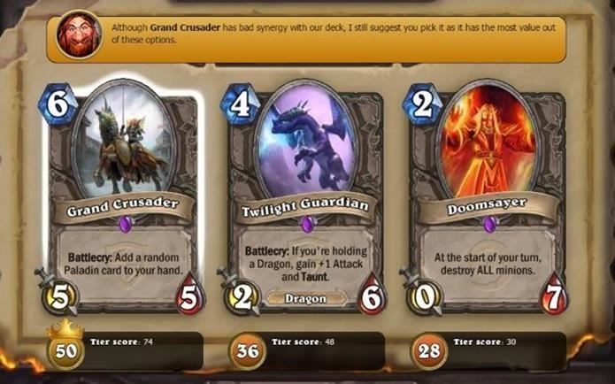 Plugin do Overwolf ajuda a escolher as melhores cartas do modo Arena (Foto: Divulgação / Overwolf)