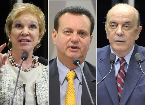 [Montagem matéria] Marta Suplicy, Kassab e José Serra (Foto: Agência Senado/Arquivo)