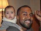 Kanye West e a filha North West aparecem fofos em momento família