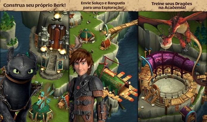 Dragons Rise of Berk é o jogo oficial do novo filme da Dreamworks (Foto: Divulgação)