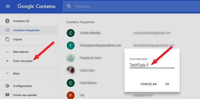 Crie um grupo no Gmail através do Google Contatos (Foto: Reprodução/Rodrigo Fernandes)