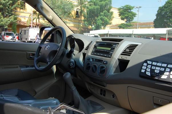 Interior da Toyota SW4 da Rota (Foto: Divulgação)