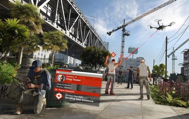 No papel do hacker Marcus Holloway, jogador poderá invadir semáforos, drones e até celulares em 'Watch Dogs 2' (Foto: Divulgação/Ubisoft)