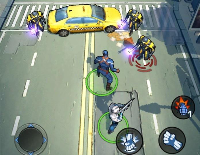 Detalhe para o visual Cel Shading de Captain America: TWS (Foto: Reprodução / Dario Coutinho)