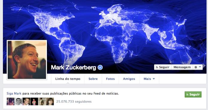 Mark Zuckerberg foi o primeiro a fazer parte da própria rede (Foto: Reprodução/ Facebook)