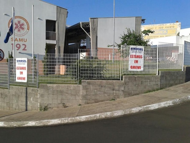 Funcionários do Samu de Limeira entraram em greve na terça-feira (Foto: Eunice Lopes/Sindicato)