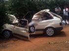 Carro invade contramão e dois  morrem na MG-223 em Araguari, MG