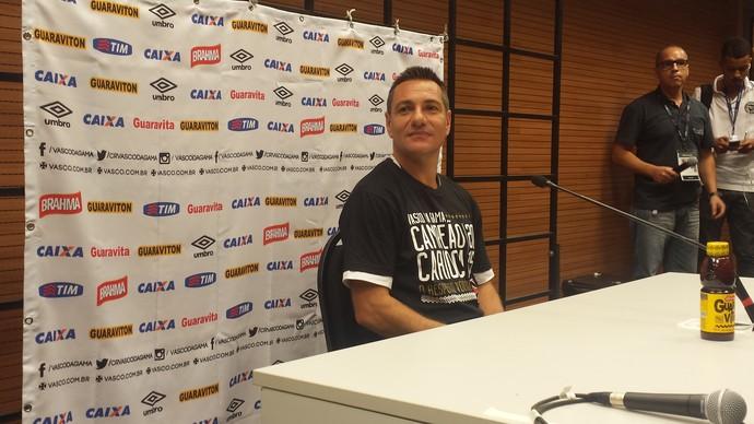 Doriva, coletiva do título do Carioca do Vasco (Foto: Raphael Zarko/GloboEsporte.com)