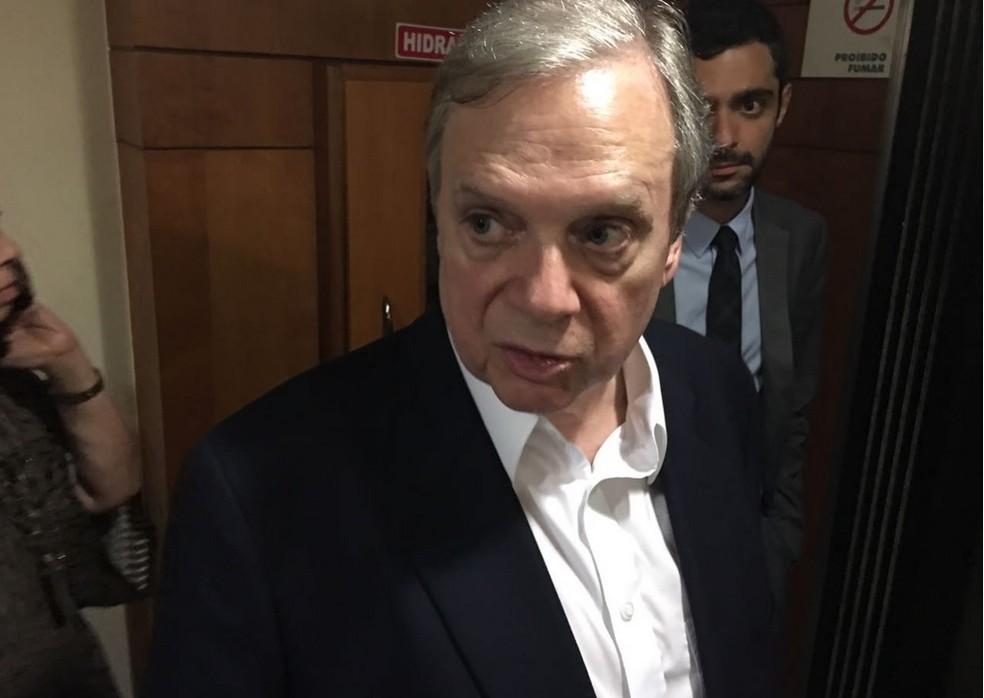 O senador Tasso Jereissati, presidente interino do PSDB (Foto: Gustavo Garcia/G1)