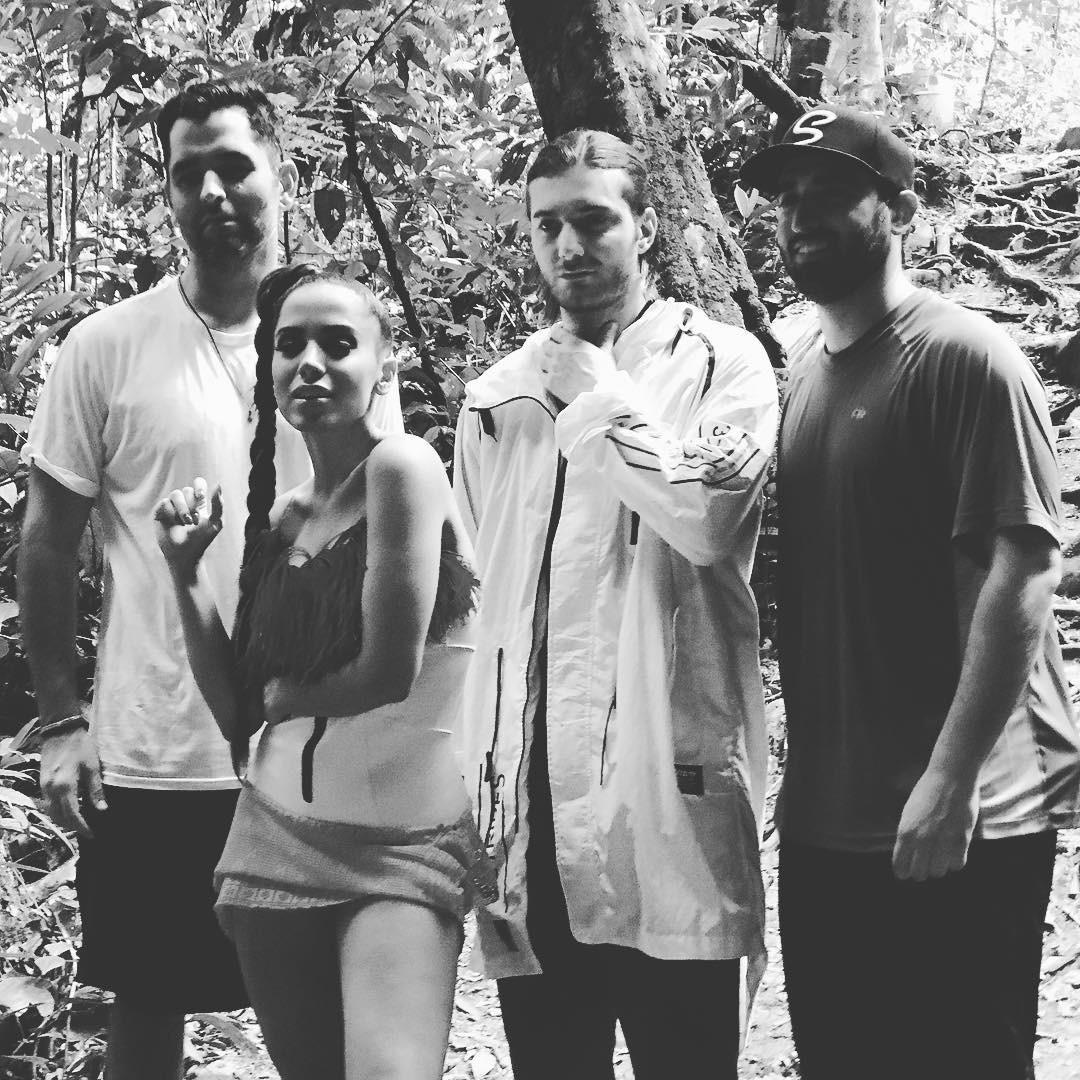 Manuel Nogueira, Anitta, Alesso e Sam Shahidi (Foto: Reprodução/Instagram)
