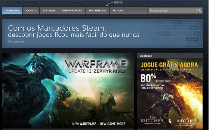 Steam (Foto: Reprodução/Paulo Vasconcellos)