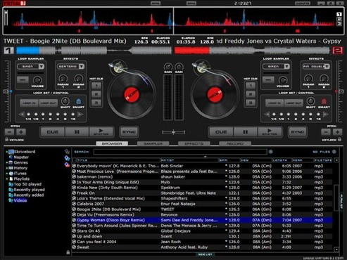 screenshot de Virtual DJ