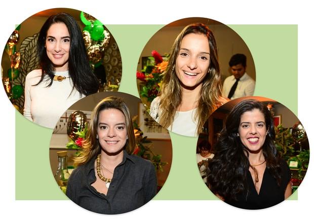 Da esquerda para a direita: Lolo Ascar, Beta Whately, Carol Macea e Cris Dios  (Foto: Arte Vogue Online)