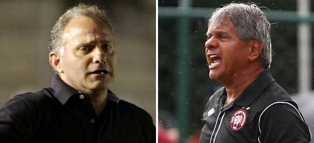 Arthur Bernades, do Atlético-PR, e Toninho Cecílio, do Paraná Clube (Foto: Agência Estado)