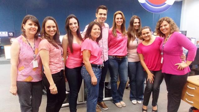 Colaboradores da TV TEM de São José de Rio Preto registraram o momento (Foto: Produção / TV TEM)