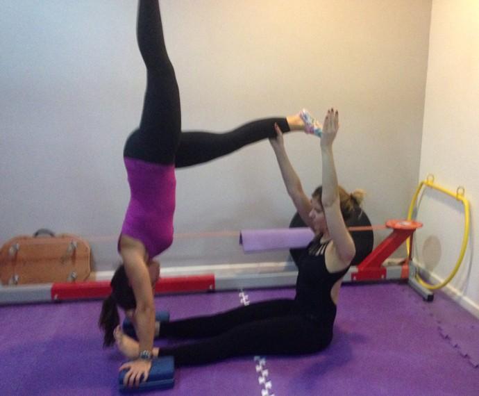 Mariana Santos faz exercícios: 'Alivia o stress' (Foto: Arquivo Pessoal)