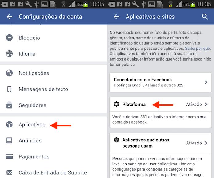 Caminho para opções de aplicativos e jogos do Facebook para Android (Foto: Reprodução/Marvin Costa) (Foto: Caminho para opções de aplicativos e jogos do Facebook para Android (Foto: Reprodução/Marvin Costa))