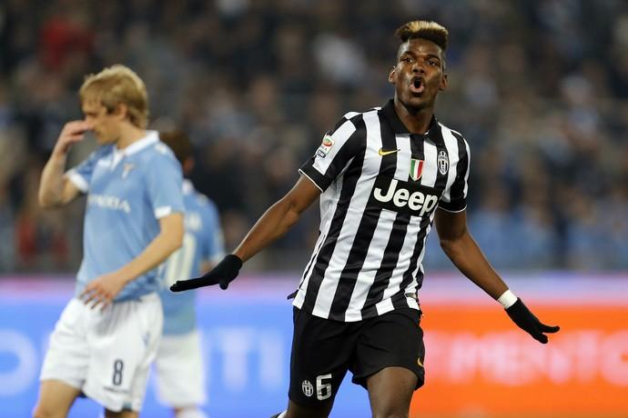 Paul Pogba comemora gol do Juventus contra o Lazio (Foto: Giampiero Sposito / Reuters)