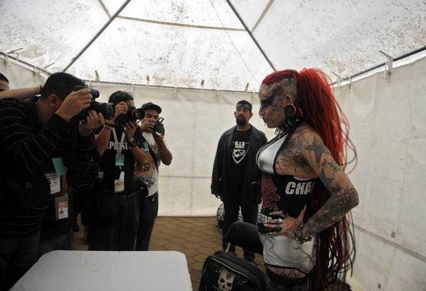 No sábado (22), ela participou de um evento na Guatemala. (Foto: Johan Ordonez/AFP)