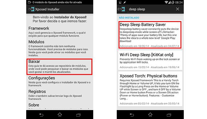 Procure pelo módulo Deep Sleep Battery Saver (Foto: Reprodução/Paulo Alves)