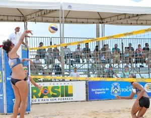 Praia da Graciosa foi sede da primeira etapa do Circuito BB de Vôlei de Praia Sub-21 (Foto: Lucas Nascimento/CBV)