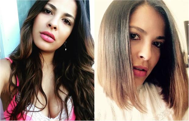 Antes e depois: a ex-BBB Gyselle Soares radicaliza corte de cabelo e compartilha novo visual na web (Foto: Reprodução do Instagram)