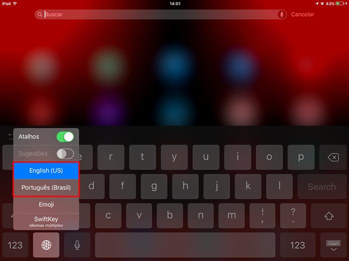 iOS 9 deve estar com teclado padrão do sistema ativado para desativar animações (Foto: Reprodução/Elson de Souza)