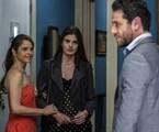 Carolina (Drica Moraes), Angel (Camila Queiroz) e Alex (Rodrigo Lombardi) | Gshow