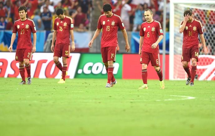 time Espanha derrota Chile (Foto: Reuters)