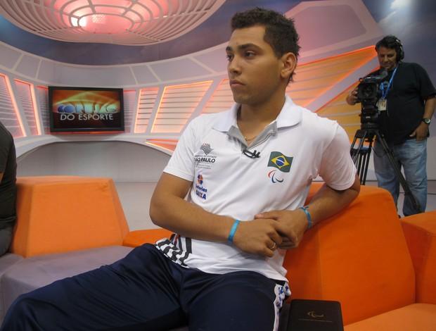 Alan Fonteles no Corujão do Esporte (Foto: Daniel Cardoso (Globoesporte.com))
