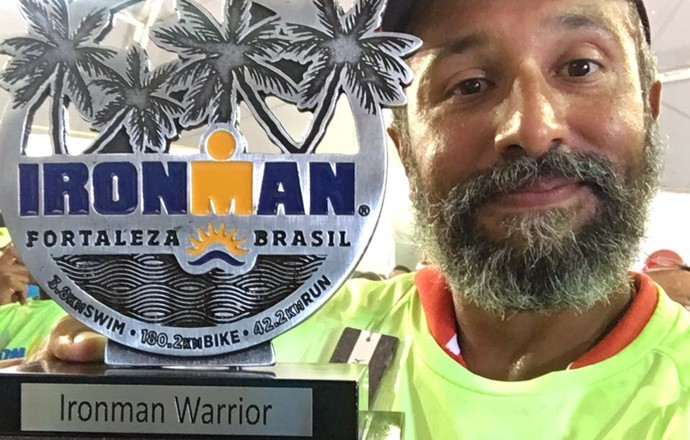 EuAtleta - Iduarte Ironman troféu (Foto: Arquivo pessoal)