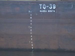 Calado passou de 3 metros para 60 cm  (Foto: Reprodução / TV TEM)