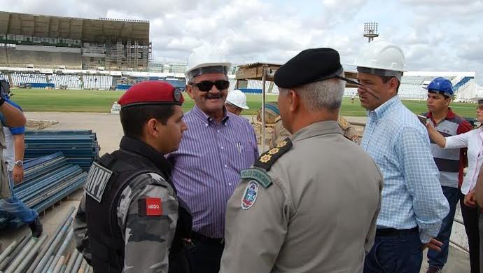Vistoria do Amigão, Estádio Amigão, Campina Grande, Paraíba (Foto: João Brandão Neto / Globoesporte.com/PB)
