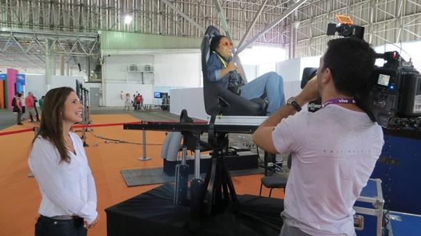 Bastidores da gravação do Globo Universidade na Campus Party (Foto: Divulgação)