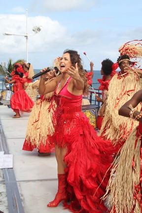 Daniela Mercury no carnaval de Salvador de 2014 (Foto: Dilson Silva,Wesley Costa e Vinicios Eduardo / Agnews)
