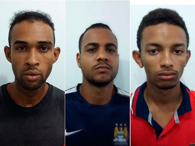 Suspeitos de assalto em Salvador (Foto: Divulgação/PC)