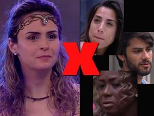 Ana Paula contra todos (Foto: Big Brother Brasil / Gshow)