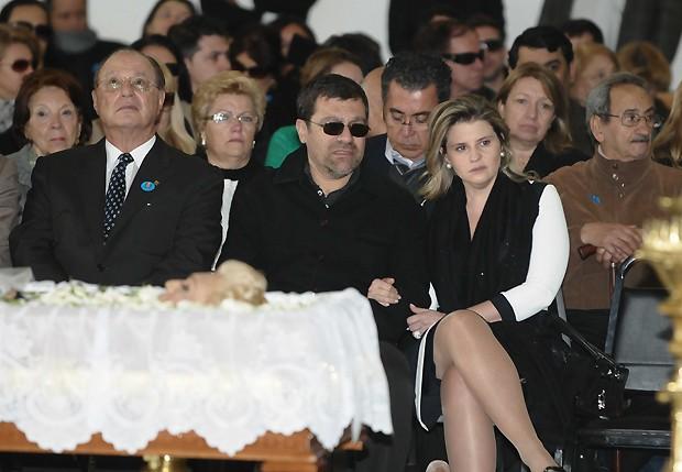 Paulo Maluf, Marcelo Camargo e Helena Pessutti (Foto: Francisco Cepeda / AgNews)