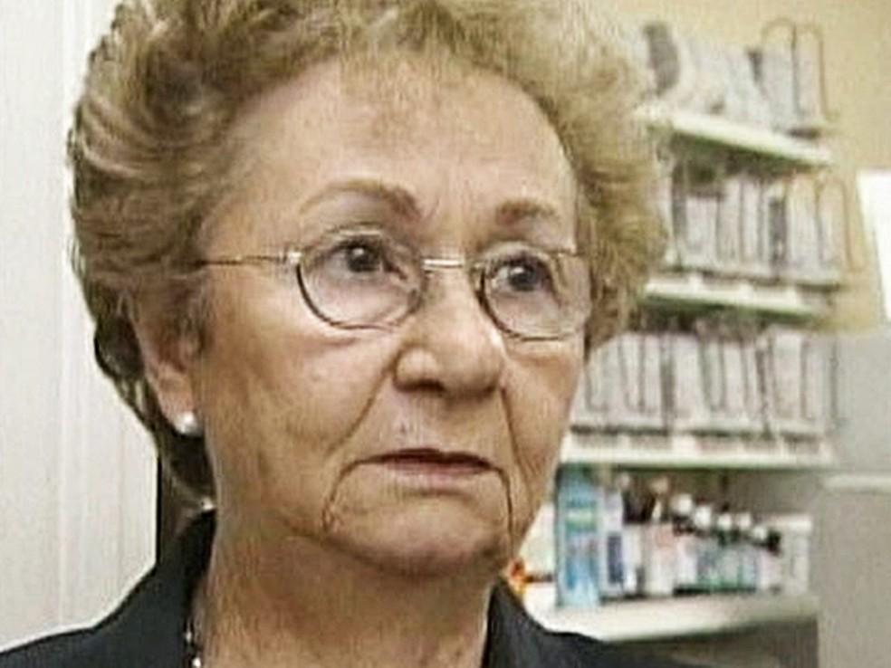 A irmã de Fidel, Juanita Castro, em imagem de 2009 (Foto: Reprodução/TV Globo)