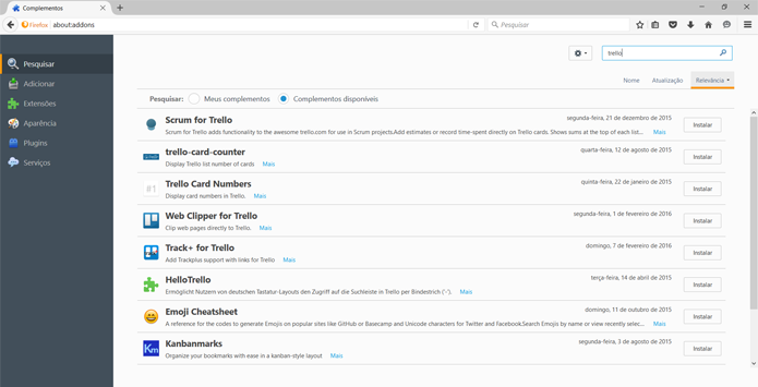 Trello conta com complementos para usuários do Firefox (Foto: Reprodução/Filipe Garrett)