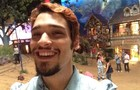 Sorriso lindo! Bruno Fagundes lindo no selfie (Foto: Meu Pedacinho de Chão/TV Globo)