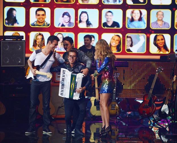 Luan e Forró Estilizado (Foto: Camila Serejo/TV Globo)