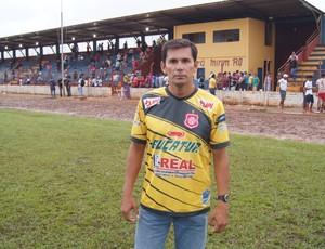 Hernán Oliveira, técnico do Guajará (Foto: Júnior Freitas)