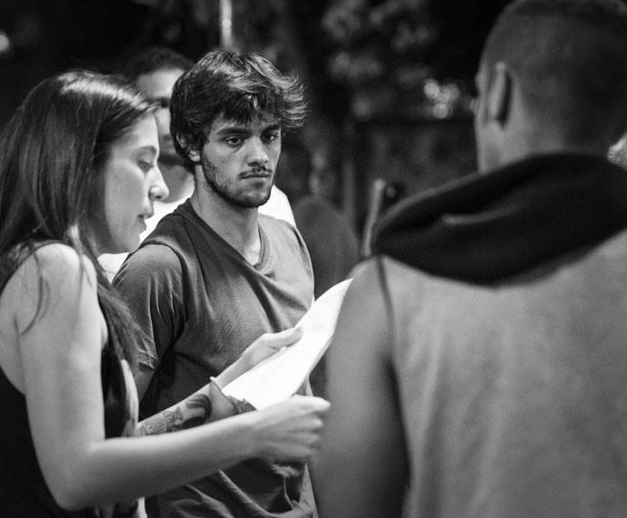 Na trama, Jacaré tem um rixa com Jonatas, personagem de Felipe Simas (Foto: Raphael Dias/Gshow)