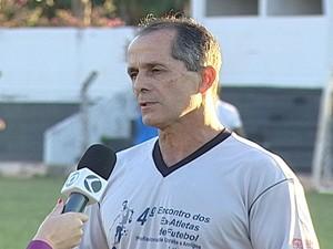 O novo preparador físico do Nacional, de Uberaba, Lúcio Vaz (Foto: Reprodução/TV Integração)