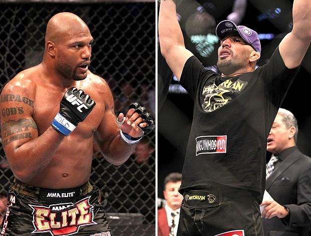 montagem luta UFC Qinton Rampage Jackson e Glover Teixeira (Foto: Editoria de Arte)