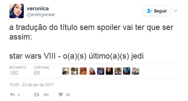 Comentários sobre o novo Star Wars (Foto: Reprodução/Twitter)