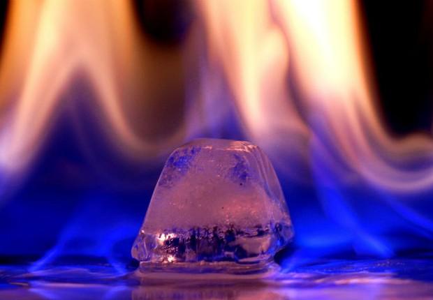 Gelo combustível : aposta da China para fonte de energia (Foto: Reprodução/YouTube)